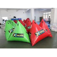China Green/Red Floating Inflatable Water Park Inflatable Marher Buoy on sale
