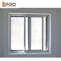 China Simple Modern House Aluminium Vertical Sliding Windows Balcony Curtain vertical sliding aluminium window glass sliding on sale