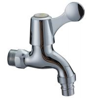China Contemporary Water Saving Single Cold Water Taps Chrome Plated Faucet , Wall Mounted on sale