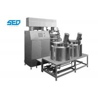 Quality Homogenizing Vacuum Emulsifying Mixer Siemens Touch Screen Controlled Type wholesale