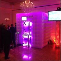 Quality coolest cube photo booth inflatable with color changing background lights wholesale