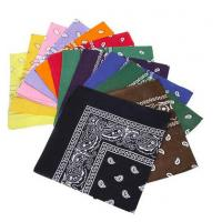 Quality 12pc Multicolor Cotton Fabric Extra Large 21 Inch Square Bandannas wholesale