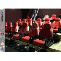Cheap Red Hydraulic Mobile Theater Chair For 7D Movie Theater 1 Year Guaranty for sale