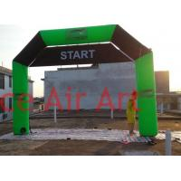 Quality custom 6m x 4m green inflatable advertising arch with removable banner STAT and FINISH on back for USA wholesale