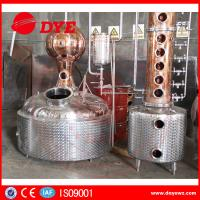 Quality Stainless Steel / Red Copper Column Whisky Alcohol Stills CE Approval wholesale