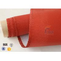 Quality 0.9mm Red Silicone Coated Fiberglass Fabric , Generator Thermal Insulation Materials wholesale