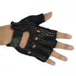 Quality Half Finger Gloves,Color: Black Green,Size: S M L XL wholesale