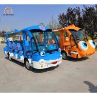 Quality Luxury Sightseeing Car Electric Train Ride Dolphine / Clownfish Design wholesale