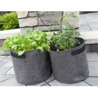 Cheap Indoor / Outdoor Drainage Holes Fabric Garden Bags For Planting for sale