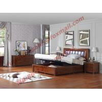 Quality Luxcury Upholstery Headboard with Storage Bedstead Box in Solid Wood Furniture wholesale