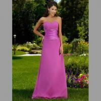 Quality Bridesmaid Dress/Strapless A-line Satin Gown with Sweetheart Neckline and Zip at Back wholesale