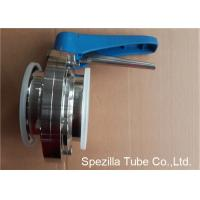 China A270 Stainless Steel Sanitary Valves Plastic Handle Tri Clamp Butterfly Valve on sale