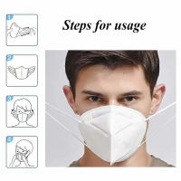 Quality 5 Layer EarLoop Non Woven Dustproof KN95 Face Mask wholesale