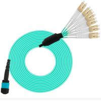 Quality 10G 40G Fiber Optic Cable Patch Cord Assembly MPO To LC OM3 Breakout wholesale