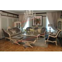 Quality French-type Furniture made by Wooden Carving Frame with Upholstery Sofa Set wholesale