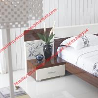 Quality Dark oliver and white glossy painting Apartment bedroom furniture wholesale