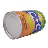 Quality 240ml 400ml 3PC Metal Tin Can Canned Food Packaging Round CMYK Body Printing wholesale