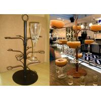 Quality 12 Arms White Cocktail Tree Stand Rack , 3 Layers Wine Glass Metal Display Rack wholesale