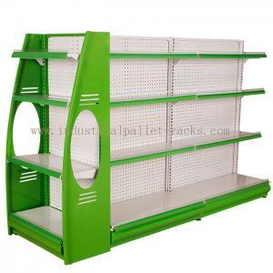 Quality Stores Supermarket Shelves Commercial Storage Rack Green / Grey / Orange / Pink / Blue wholesale