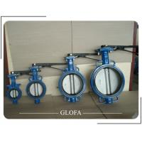 China WAFER CAST IRON GG25 CONCENTRIC EPDM RUBBER LINED BUTTERFLY VALVE on sale