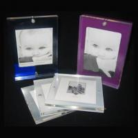 Quality tabletop custom clear acrylic baby footprint frame cute baby funny photo frame picture photo frame wholesale