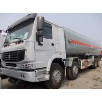 Quality SINOTRUK 8 * 4  336HP HOWO76 Cab Fuel Tanker Truck / diesel tank trailer wholesale