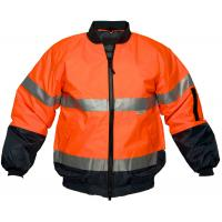 Buy cheap Hi Vis Two Tone Safety Bomber Jacket with Reflective tape from wholesalers