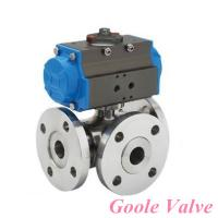 Cheap Pneumatic three way Ball Valve for sale