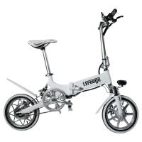 Quality 240W 36V 14 Inch Big Tire Foldable Electric Bike For Ladies Customized Color wholesale