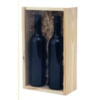 Quality wooden wine box with slide lid wholesale