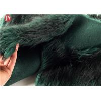 Quality Width 58/60 Plush Faux Fur Fabric Silky Soft Long Blue Black 65mm Acrylic wholesale