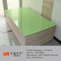 China Green / Red / Blue Faced Laminated Carving UV MDF Board For Sliding Doors / Cabinet on sale