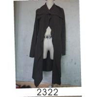 Quality Black Wool / Acylic Womens Knitted Long Cardigan With Nice Design For Autumn wholesale