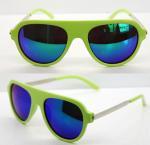 Quality AC Lens Retro Plastic Frame Sunglasses With 400UV Protection wholesale
