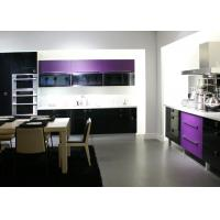 Quality Purple Themofoil Door Kitchen Cabinets , Modern Built In Kitchen Cupboards wholesale