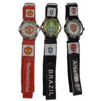 Quality Colorful Summer Cool Flag Nylon Strap Sport Wrist Watches Football World Cup Souvenirs wholesale