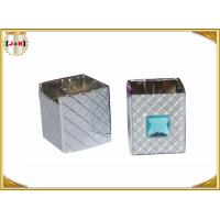 Quality Distinct Twist Off Zinc Alloy Perfume Bottle Caps Gunmetal Square Shape wholesale