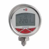 China single and dual scale crimped bezel temperature digital pressure gauge on sale