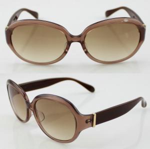 Cheap Unisex Handmade Oval Acetate Frame Sunglasses With Polarized Lens for sale