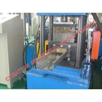 Cheap Automatic Metal Door Frame Making Machine With Cr12 Mould Steel Rollers for sale