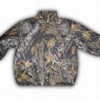 Quality Hunting Jacket with 100% Polyester Knitted Brush Tricot and TPU 1000/1000 Shell wholesale