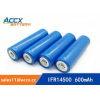 Quality shaver battery lithium ifr14500 3.2v 600mAh AA size wholesale