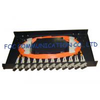 Quality Fiber Optic Patch Panel 12Port With SC Multimode Duplex Adapters and Pigtails wholesale