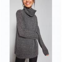 Quality Marl Tunic Long Sleeve Pullover Sweater , Neck Knitted Dressy Pullover Sweaters wholesale