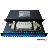 Quality Sliding Drawer Fiber Optic Patch Panel With Angled SC Simplex Adapter Port 24 Cores wholesale