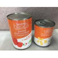 Quality Easy Open Lids Metal Tin Can 160g Mini Round Shape Empty Tinplate Juice wholesale