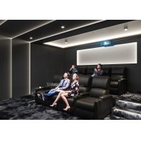 Quality Theater Movie Projector Home Cinema System With 7.1 Speakers / Reclining Chairs wholesale