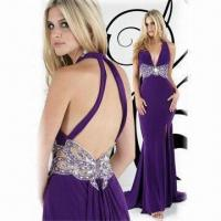 Quality Halter Chiffon Sexy Evening Dress/Prom Gown, ODM and OEM Orders are Welcome wholesale