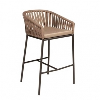 Quality Comfortable 1050mm Height 560mm Width Rattan Wicker Bar Stools For Hotel wholesale