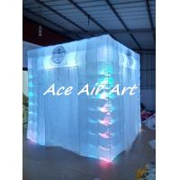 Quality custom inflatable cube booth tent,led inflatable portable photo booth for wedding wholesale